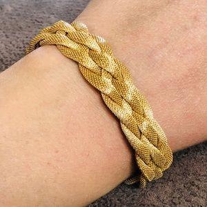 53gr 18k Yellow Gold UnoAerre Woven Chain Bracelet